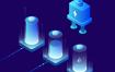 10款网络电子科技新能源电池插画AI格式