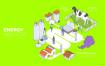 8款新能源环保科技插画AI格式
