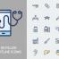 250个健康与医疗线性图标包含sketch源文件PNG,svg等格式素材下载