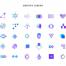7套350个几何图形元素扁平化彩色渐变图标icon矢量素材下载