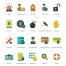 60个扁平化风格的 IT安全矢量图标素材下载