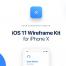 105个简洁优雅的iOS 11设计原型线框素材下载适用于iPhone X屏幕界面(含sketch和psd源文件)