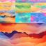 10款唯美彩色云层纹理高清图片打包下载