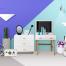 14款时尚客厅儿童房间家居家具厨房书房设计展示海报PSD模板素材