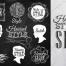 17套产品最佳水彩套装矢量素材(肉类菜单,果汁海报,咖啡菜单,老式啤酒等400多种手写元素)优质设计素材下载