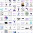 1000+蒸汽波Vaporwave时尚创意海报设计荧光镭射背景PNG透明图模板素材