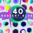 40个彩色抽象渐变模糊背景矢量素材