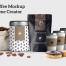 6款精致咖啡包装样机模板PSD分层素材