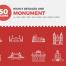 50个世界名胜古迹线性图标PSD分层素材[含矢量格式]