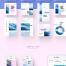 96个粉色广告媒体banner设计时尚小清新设计素材下载