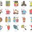 78咖啡馆咖啡图标设计素材下载