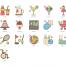 96个旅行主题彩色图标优质设计素材下载