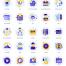 105个比特币Altcoin区块链和加密货币设计项目矢量图标优质设计素材下载