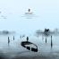 中国古风水墨山水画蝉意三联家居装饰画高清印刷psd素材海报素材下载