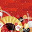 传统花样图案日式日本和风仙鹤松树鲤鱼波纹印花矢量AI源文件素材
