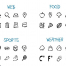 500个手绘图标优质设计素材下载