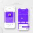 15款日程安排日历计划APP样机效果单页风格展示手机UI界面PSD设计素材