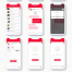 红色系礼品和鲜花递送应用UI工具包优质设计素材下载(提供Sketch和Adobe XD格式下载)