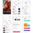 30多个使用Sketch,XD设计的社交移动UI工具包优质设计素材下载