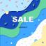 20款夏季简约活动植物几何渐变波浪sale海报PSD设计素材