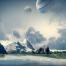 19款科技星球浩瀚宇宙星空星系地球流星太空海报背景PSD设计素材