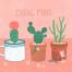 20款粉红插图插画爱情浪漫生活情侣海报PSD分层设计素材