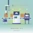 15款科技感未来网络虚拟经济海报PSD分层设计素材