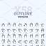 348个手和手势图标有6种变体矢量素材打包下载