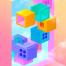 10款炫彩几何空间2.5D城市建筑手绘唯美壁纸插图插画PSD设计素材