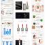 31款电商淘宝京东天猫美容化妆品护肤品美妆详情页图装修模板psd素材