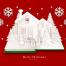 15款新年圣诞节剪纸创意圣诞树老人元旦节雪花鹿年会背景PSD设计素材