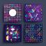36款时尚个性点阵式圆方形元素线条图案元素背景精品设计素材下载