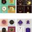 120款高端奖杯奖牌黑金年会表彰年度荣誉颁牌海报展板展台背景PSD素材