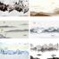 105款中国风中式古风山水墨电视背景墙创意装饰画海报模板PSD设计素材