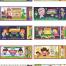 15款手绘卡通可爱儿童娱乐动物创意门票代金券抽奖背景ai矢量素材模板