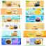65款创意风商店铺首图横幅零食吃货banner海报PSD素材模板