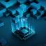 17款创意新绚丽现代科技数据信息化处理器运行模块化海报PSD设计素材