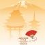 20款古典日式复古楼背景花纹传统文化海报背景矢量ai素材模板