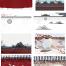 51款中国风手绘水墨古典古风屋檐建筑屋顶古代宫墙PSD背景PS素材模板