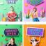 8款草地户外音乐节演唱会校庆演出舞台宣传海报AI矢量设计素材