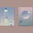 25款时尚立体几何渐变荧光封面海报背景AI矢量素材平面设计构成