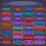 120个游戏梦幻卡通主题按钮矢量素材