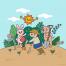 11款卡通手绘儿童幼儿园动物学习量身高看书插画AI矢量设计素材