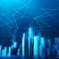 17款蓝色科技互联网创意抽象光感艺术金融商务海报背景PSD模板