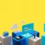 14款高端大气智能商务办公会议合成海报图像背景PSD模板素材设计
