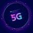 18款5G网络移动光纤上网手机互联区块科技渐变AI矢量海报背景设计