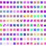 200款欧美时尚潮流色彩视觉几何色块撞色创意背景图案AI矢量素材