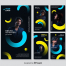 6款抽象多彩社交故事矢量模板素材打包下载