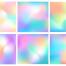 彩虹云炫彩渐变少女心独角兽童话儿童图案AI矢量素材设计印花