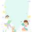10款可爱幼儿园小学生卡通手绘学习生活空白信纸背景设计PSD模板